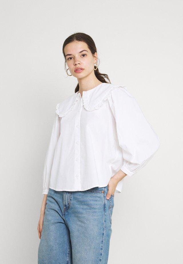 MIMMI COLLAR BLOUSE - Blouse - bright white