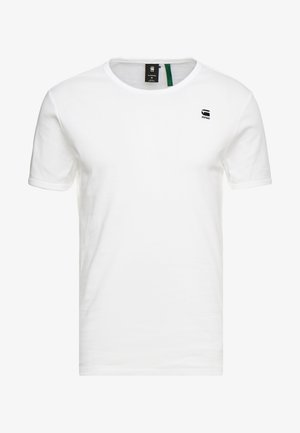 BASE R T S/S - Basic T-shirt - white/black