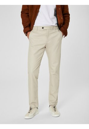 SLHSLIM CARLO PANTS - Trousers - silver lining