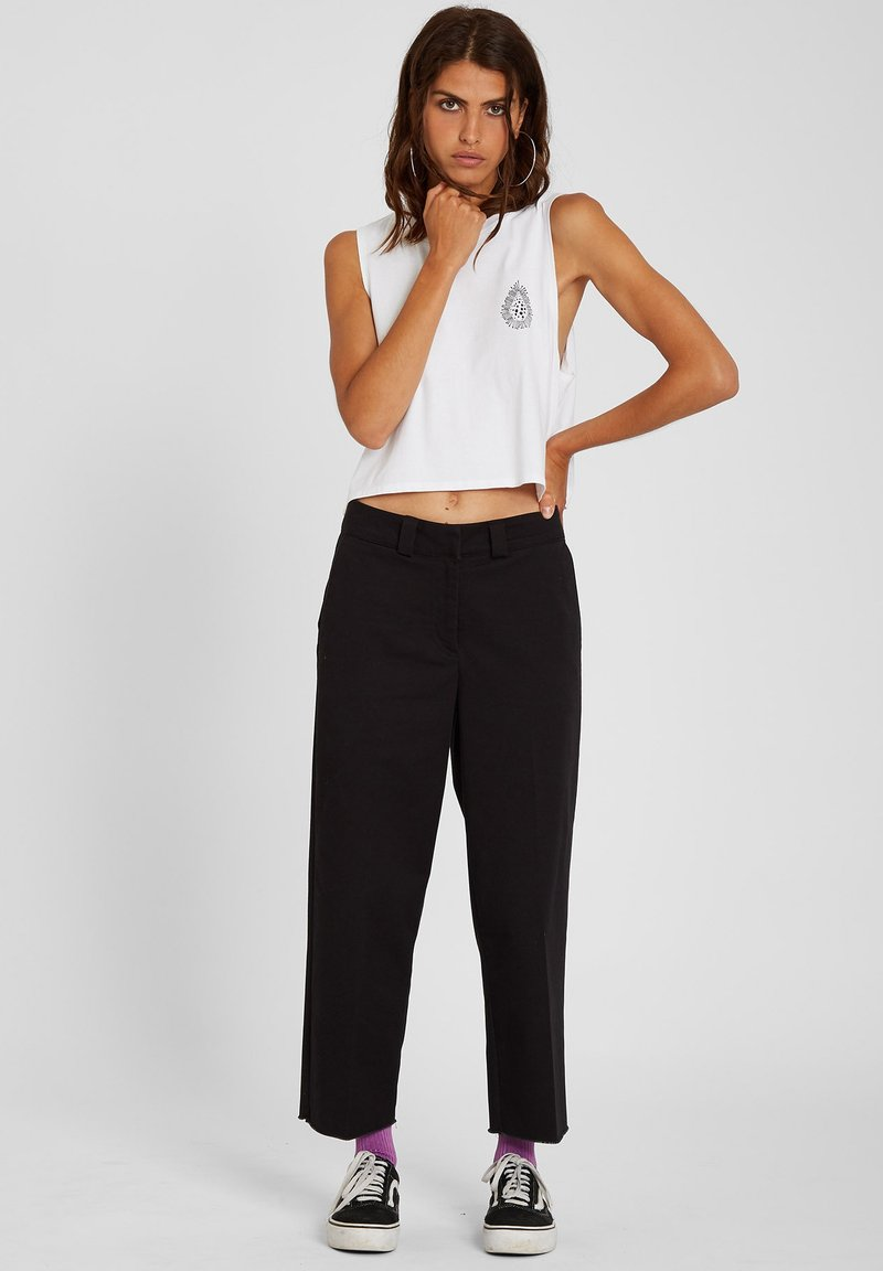 Volcom - WHAWHAT CHINO PANT - Trousers - black