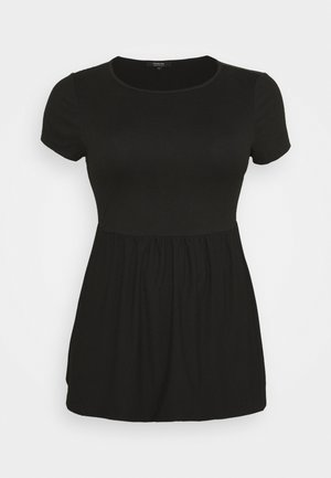 SHORT SLEEVE SMOCK - T-shirt basique - black