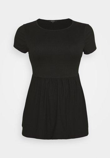 SHORT SLEEVE SMOCK - Basic T-shirt - black
