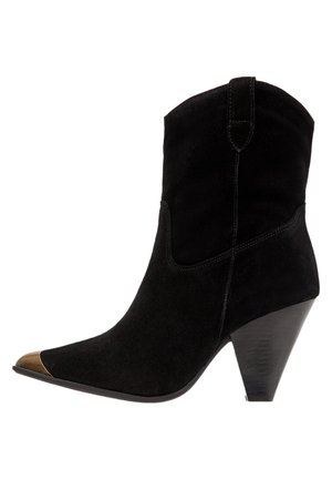 BIADEVI ANKLE BOOT - Cowboy/biker ankle boot - black1