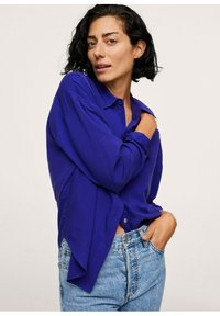 Mango - Button-down blouse - bleu - 3