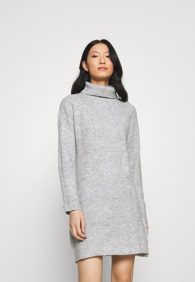 Gebreide jurk - mottled grey