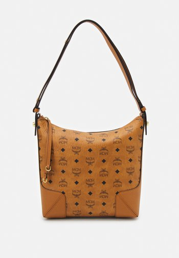 KLARA HOBO IN VISETOS - Across body bag - cognac