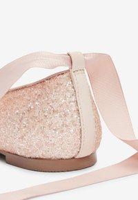 Next - PEWTER GLITTER TIE  - Ballet pumps - pink - 4