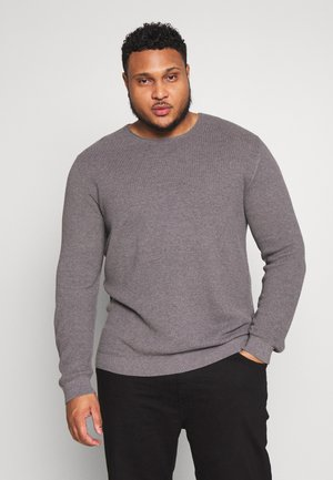 SLHROCKY CREW NECK  - Svetr - medium grey melange