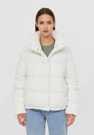 MIT STEHKRAGEN - Winter jacket - white