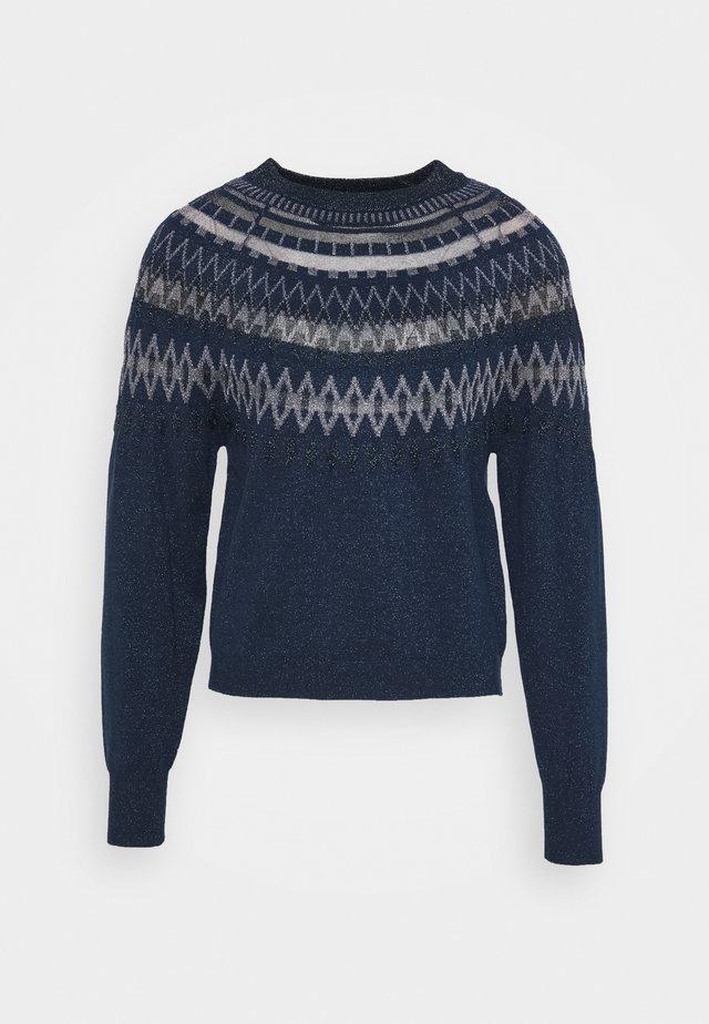 PANDA - Stickad tröja - navy blue