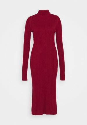 SIDE SPLIT MIDI DRESS - Jumper dress - burgundy