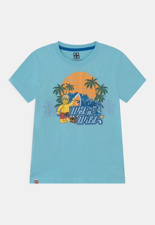 Print T-shirt - light turquise