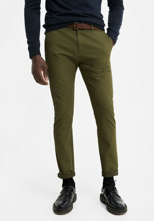 SKINNY FIT - Trousers - army green
