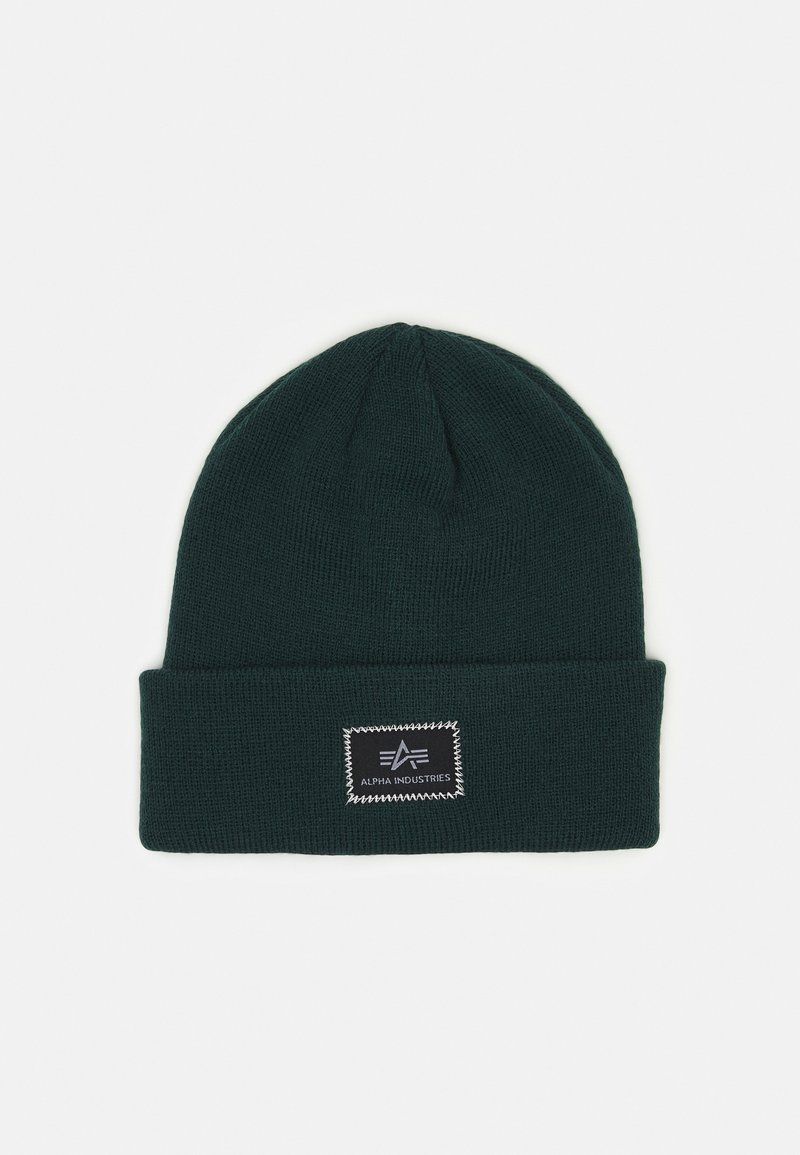 Alpha Industries - X-FIT BEANIE - Pipo - navy green