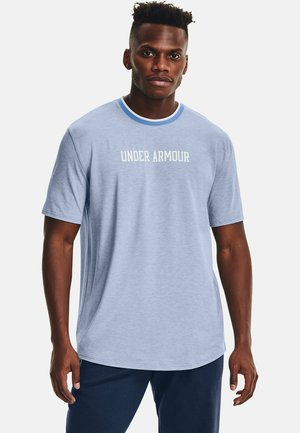 RECOVER - Print T-shirt - washed blue full heather