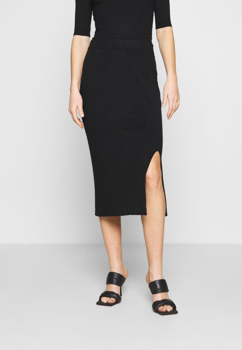 Monki - LOA SKIRT - Pencil skirt - black
