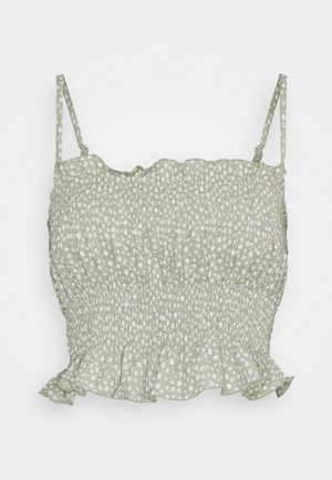 OBJLEVENTA SINGLET J.TOP A PETIT - Top - desert sage/small ditsy