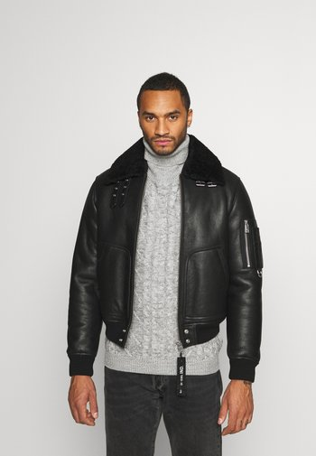 L-ARNOLD  - Kožená bunda - black