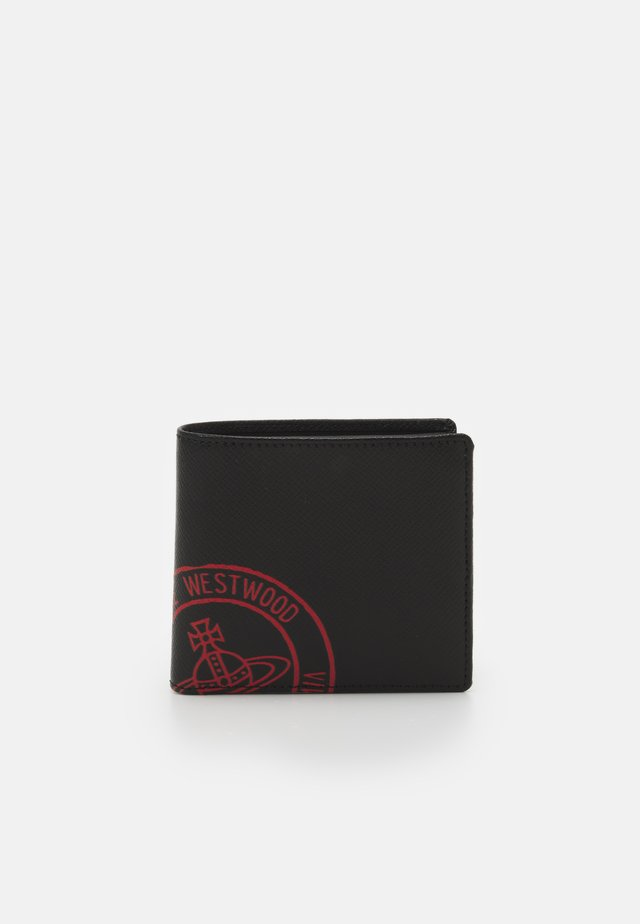 KENT MAN WALLET WITH COIN POCKET - Lompakko - black/red