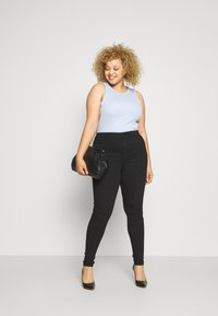 Even&Odd Curvy - JEGGING - Jeans Skinny Fit - black denim - 0