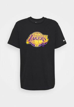 NBA LOS ANGELES LAKERS ESSENTIAL LOGO TEE - Article de supporter - black