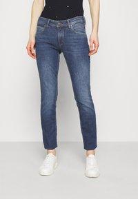 Marc O'Polo DENIM - ALVA - Slim fit jeans - true indigo mid blue - 0