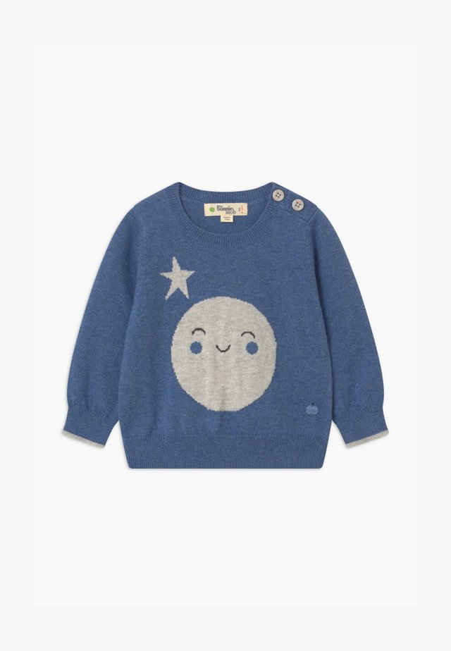 MOON INTARSIA UNISEX - Jumper - blue
