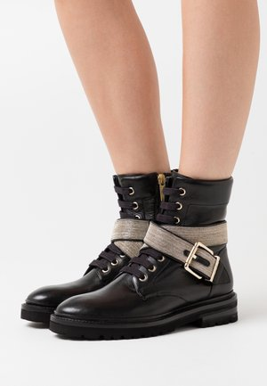 CHAIN ROAD - Lace-up ankle boots - black