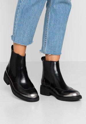 TACOMA CHELSEA - Classic ankle boots - dark silver/dark black