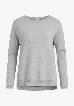 VIRIL NOOS - Jumper - light grey melange
