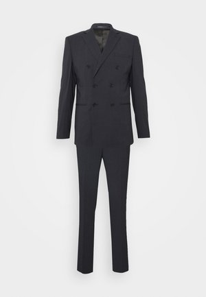 SLIM FIT DOUBLE BREASTED SUIT - Oblek - dark blue/grey