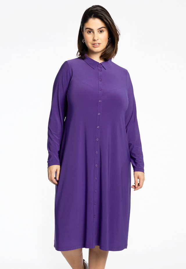 Shirt dress - purple