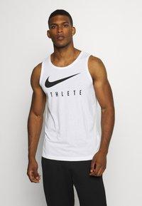 Nike Performance - TANK ATHLETE - Camiseta de deporte - white/black - 0