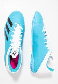 adidas Performance - X 19.4 IN - Botas de fútbol sin tacos - bright cyan/core black/shock pink - 1