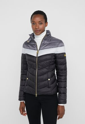 AUBURN BLOCKED QUILT - Light jacket - black/ice white/tornado