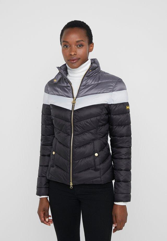 AUBURN BLOCKED QUILT - Light jacket - black/ice white/tornado