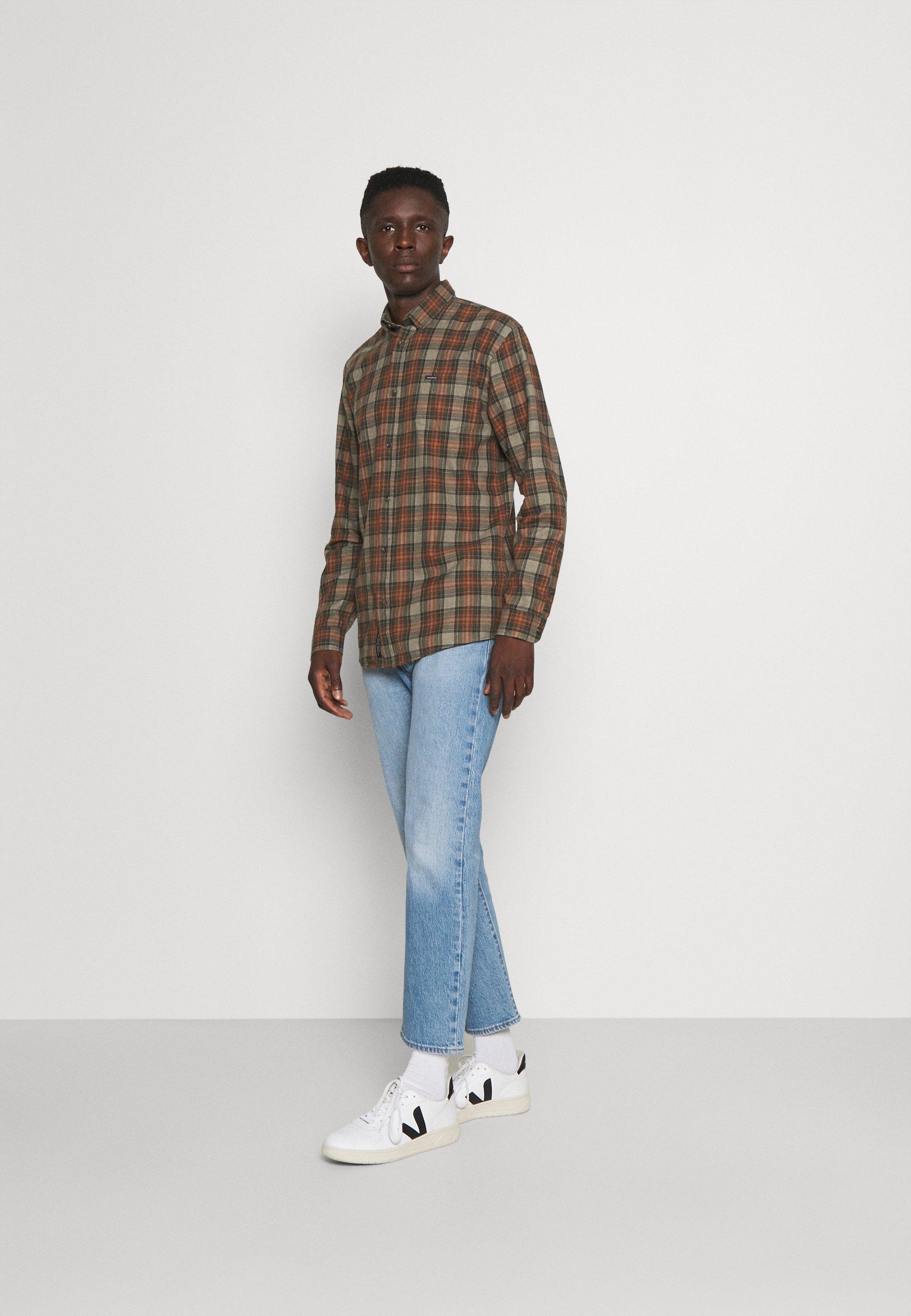 Uomo OVERDYED CHECK SHIRT - Camicia