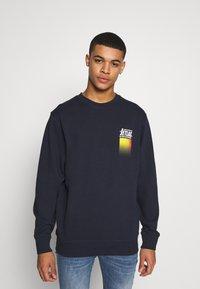 Jack & Jones - WANDER  CREW NECK - Sweatshirt - navy blazer - 0
