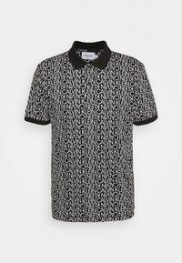 Calvin Klein - LIQUID TOUCH ALLOVER LOGO - Polo shirt - black - 0