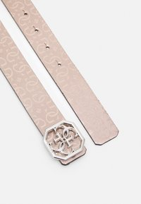 Guess - DILLA NOT PANT BELT - Belt - light pink/black - 1