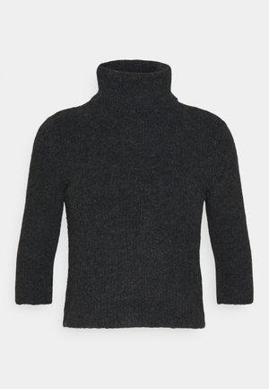 NMSUSIE HIGH NECK CROP - Jumper - mottled grey