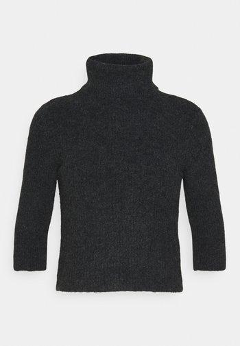 NMSUSIE HIGH NECK CROP - Strikkegenser - mottled grey