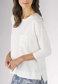 mey - HOMEWEAR SHIRT SERIE NIGHT2DAY - Pyjama top - white - 0