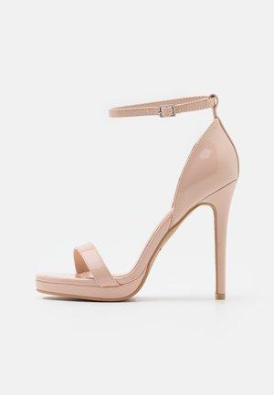 WIDE FIT CRESSIDA - Platform sandals - nude