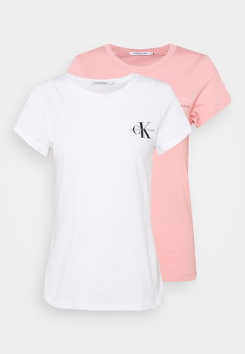SLIM 2 PACK - T-shirt con stampa - pink