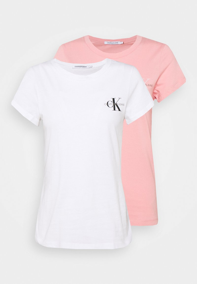 Calvin Klein Jeans - SLIM 2 PACK - Print T-shirt - pink