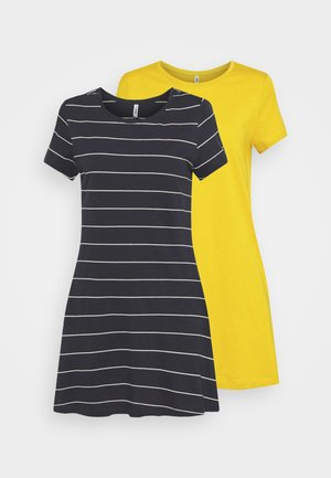 ONLMAY LIFE POCKET DRESS 2 PACK - Jersey dress - golden spice/night sky