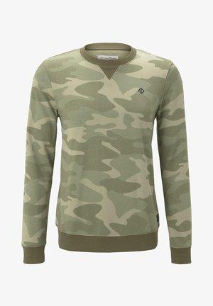 Felpa - khaki stripe camou print