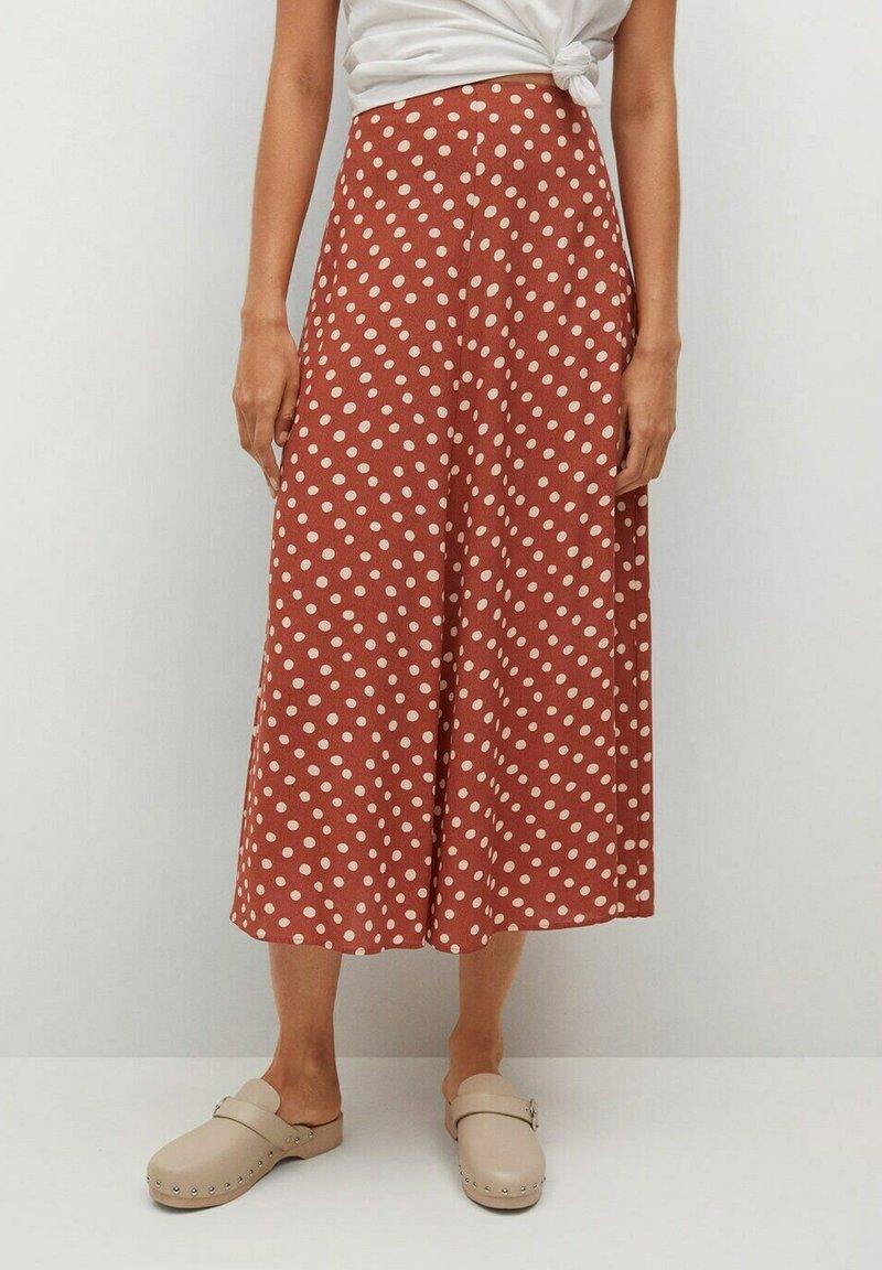 Mango - A-line skirt - braun
