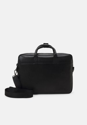 LEATHER UNISEX - Laptop bag - black